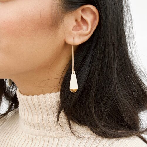ZOË COMINGS Long Teardrop Hoop Earrings