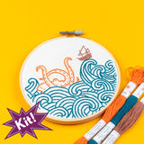 "PopLush Embroidery - The Kraken! 5"" Embroidery Kit"