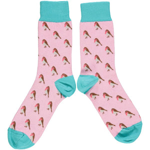 Catherine Tough Women's Ankle Socks - Light Pink + Jade Robins