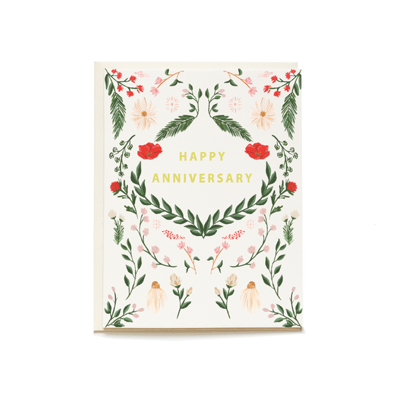 Pen & Pillar Card - Wild Meadow Anniversary