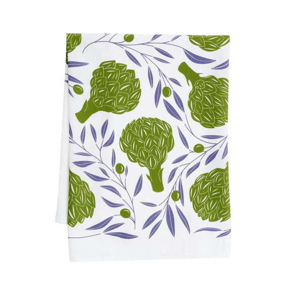 Hazelmade Tea Towel - Artichokes & Olives