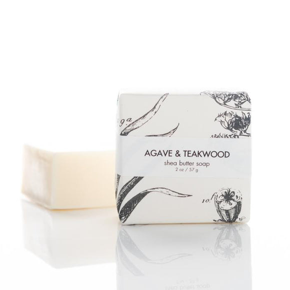 Formulary 55 Shea Butter Soap - Agave & Teakwood Guest Bar