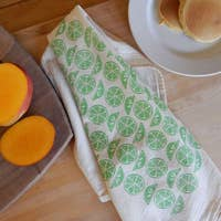 The High Fiber Kitchen Towel - Citrus in Lime