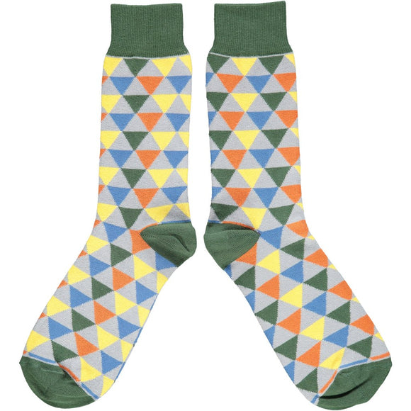 Catherine Tough Men's Ankle Socks - Triangles