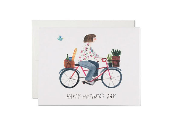 Red Cap Card - Mother's Bike