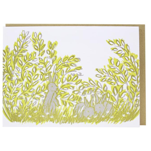 Smudge Ink Notecard - Bunnies