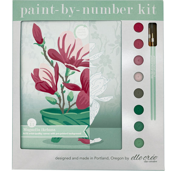 elle crée Paint-by-Number Kit - Magnolia Ikebana