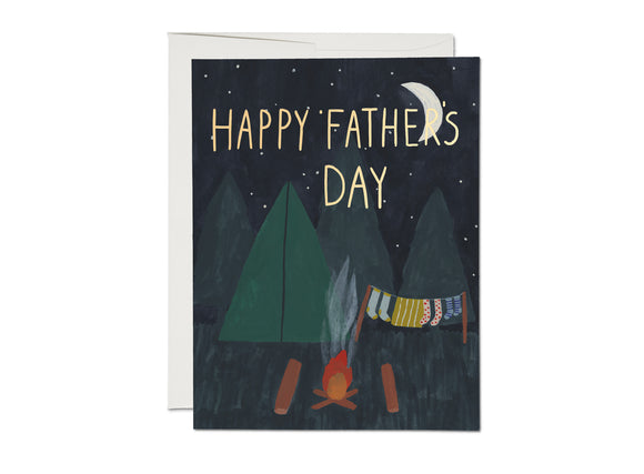 Red Cap Card - Camping Father's Day