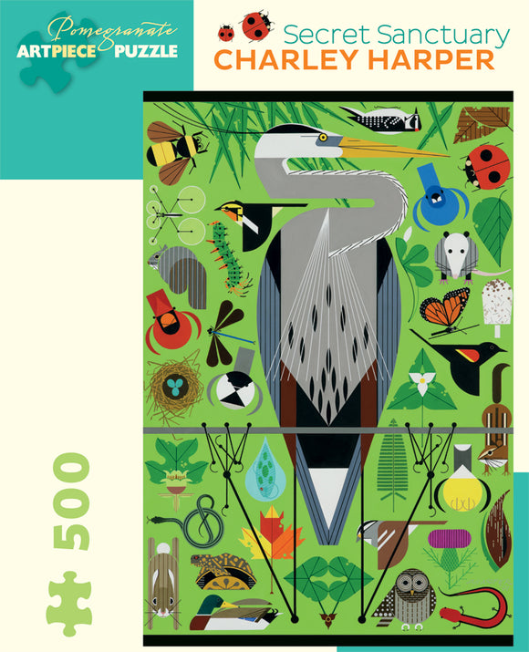 Charley Harper Secret Sanctuary 500 Piece Puzzle