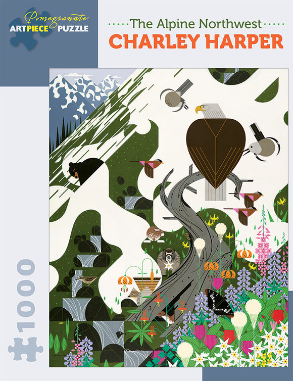 Charley Harper 1000 Piece Puzzle - The Alpine Northwest
