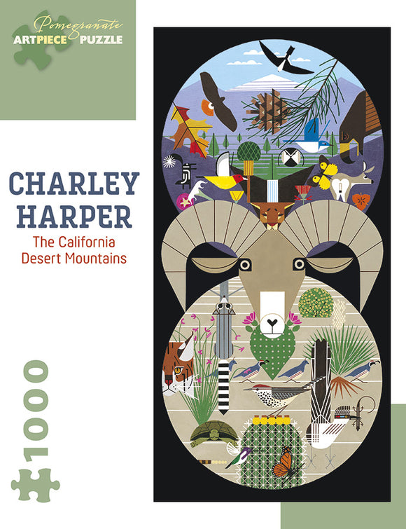Charley Harper 1000 Piece Puzzle - California Desert Mountains