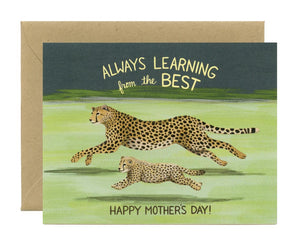 Yeppie Paper Card - Cheetah Mom