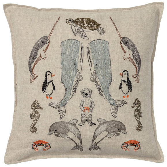 Coral & Tusk Pillow - Sea Friends