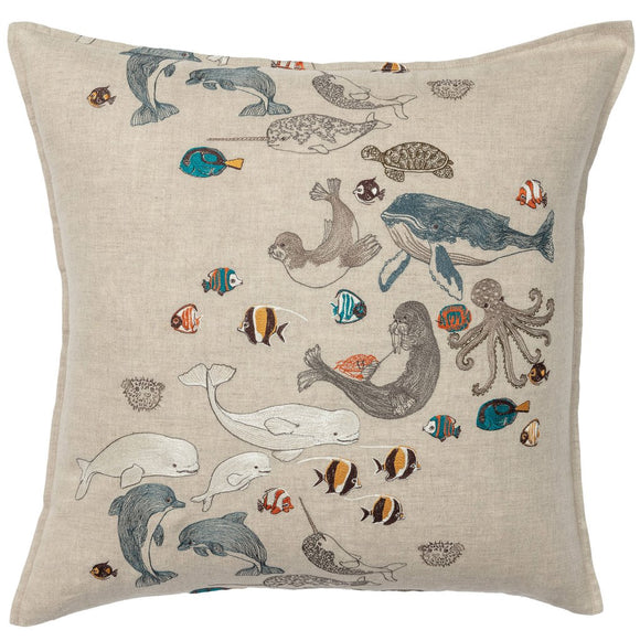 Coral & Tusk Pillow - Swim Team