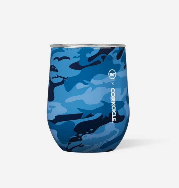 Corkcicle Vineyard Vines Stemless - Blue Camo