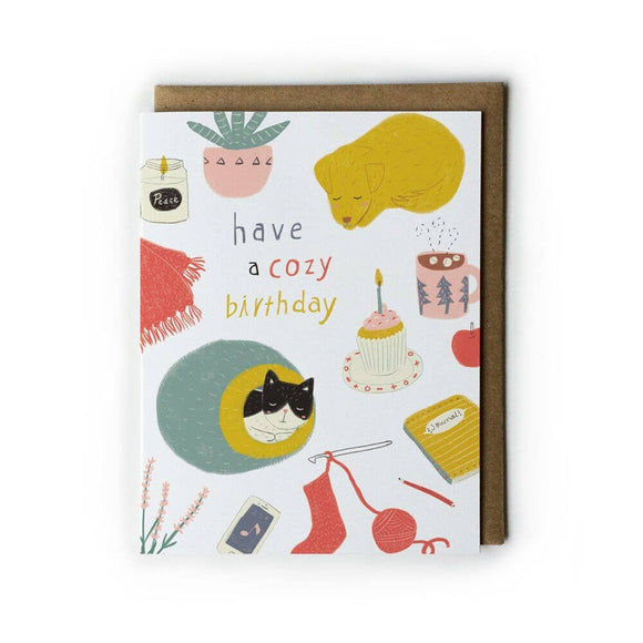 Honeyberry Studios Card - Have a Cozy Birthday