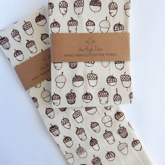 The High Fiber Kitchen Tea Towel - Acorn