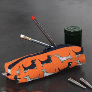 Poppy Treffry Pencil Case - Dachsunds