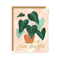 1canoe2 Card - Green Leaf Good Thoughts