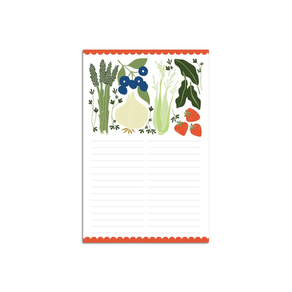 Hazelmade Note Pad - Fruits & Veggies