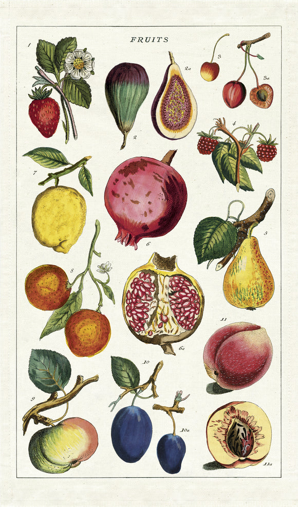 Cavallini & Co. Tea Towel - Fruits