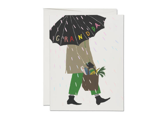 Red Cap Card - Grandpa's Umbrella Father's Day