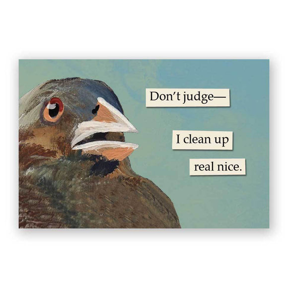 Mincing Mockingbird Magnet - Don't Judge