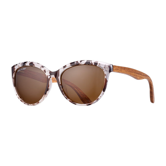 Blue Planet Sunnies - Breah in Ivory Tortoise/Rosewood/Brown