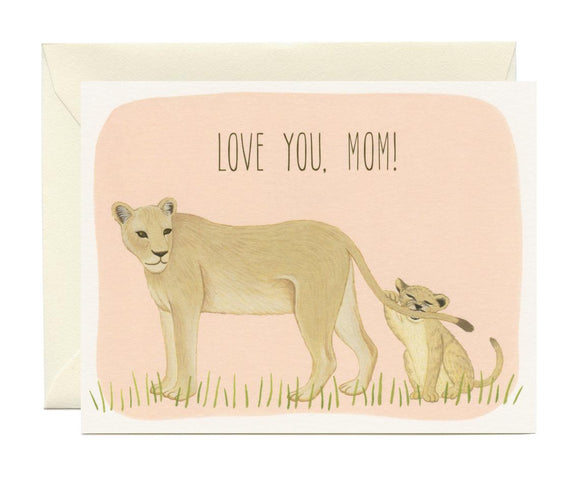 Yeppie Paper Card - Lion Mom