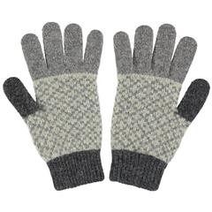 Catherine Tough Men's Lambswool Gloves - Sage and Grey
