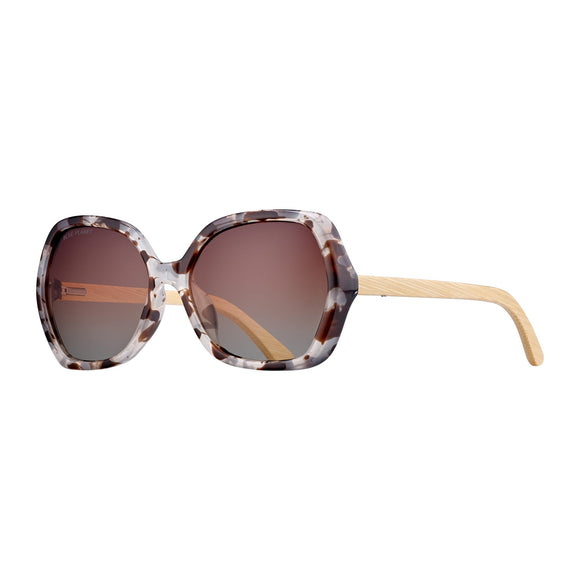 Blue Planet Sunnies - Ryli in Milky Ivory Tortoise/Bamboo/Brown