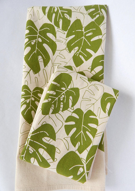The High Fiber Kitchen Tea Towel - Monstera Plant