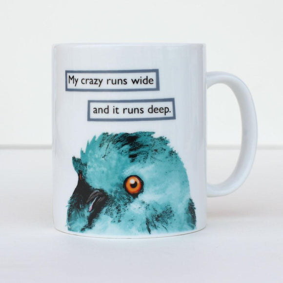 Mincing Mockingbird Mug - My Crazy Runs Wide