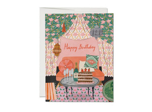 Red Cap Card - Nomad Tent Birthday