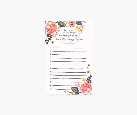 Rifle Paper Co. Checklist Notepad - Great Things