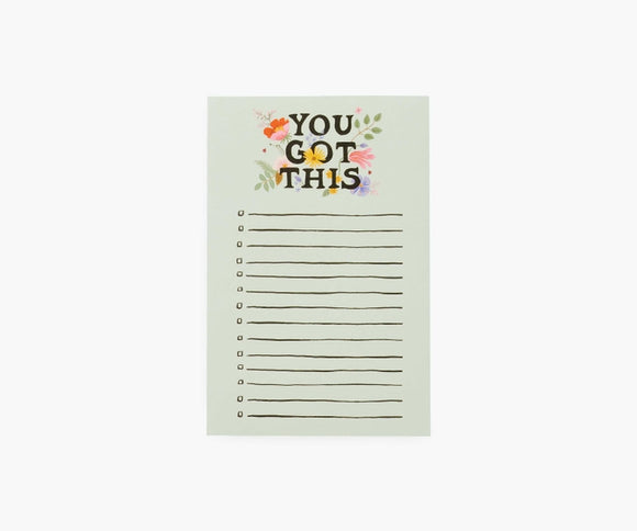Rifle Paper Co. Checklist Notepad - You Got This