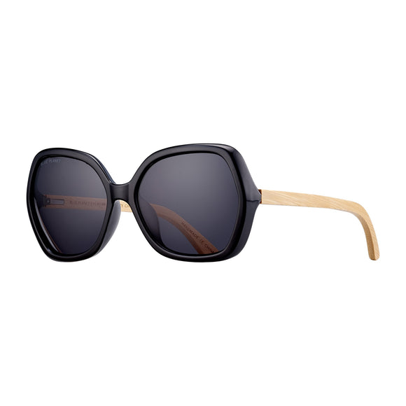 Blue Planet Sunnies - Ryli in Black Onyx/Bamboo/Smoke