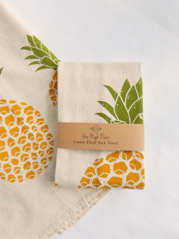 The High Fiber Kitchen Tea Towel - Pineapple