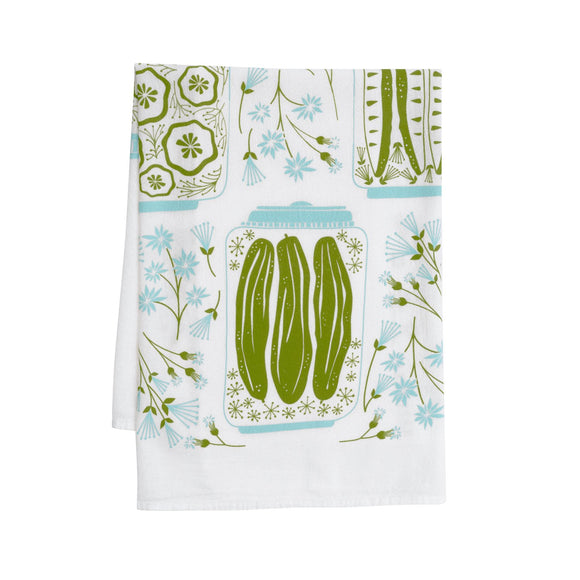 Hazelmade Tea Towel - Pickles & Petals