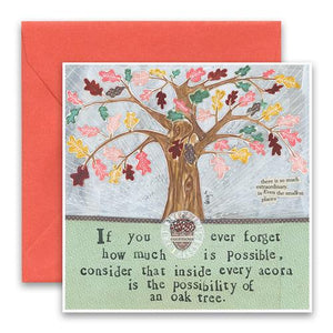 Curly Girl Card - Oak Tree