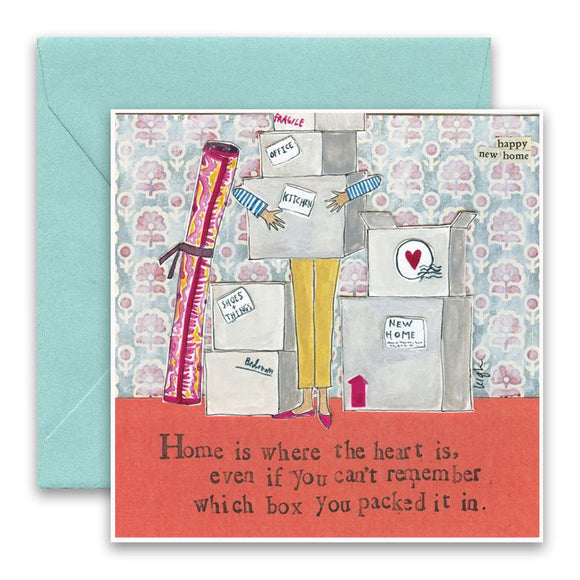 Curly Girl Card - Home Is Where