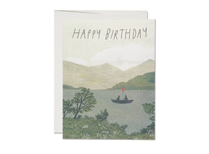 Red Cap Card - Canoe Birthday