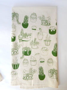 The High Fiber Kitchen Tea Towel - Succulents