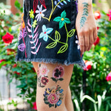 Tattly Temporary Tattoo Set - Embroidery