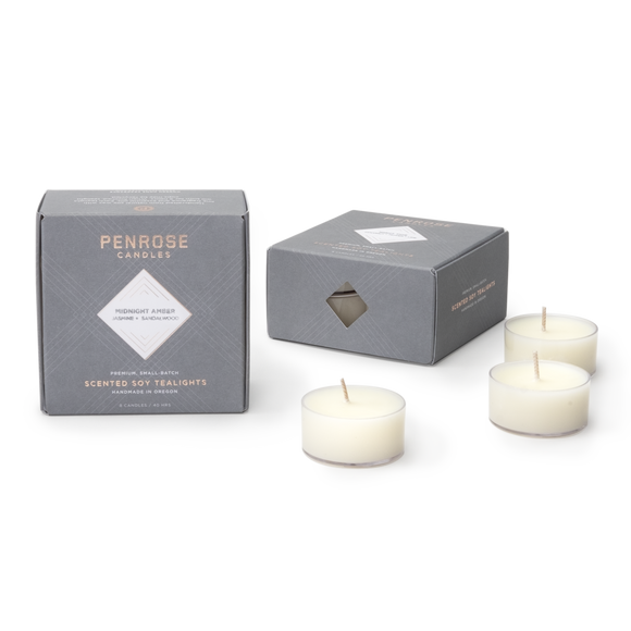 Penrose Tealights - Midnight Amber