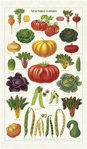Cavallini & Co. Tea Towel - Vegetable Garden