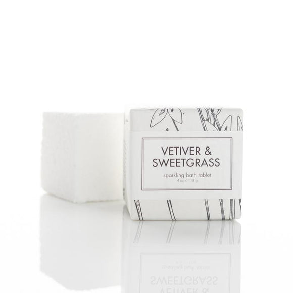 Formulary 55 Shea Sparkling Bath Tablet - Vetiver & Sweetgrass