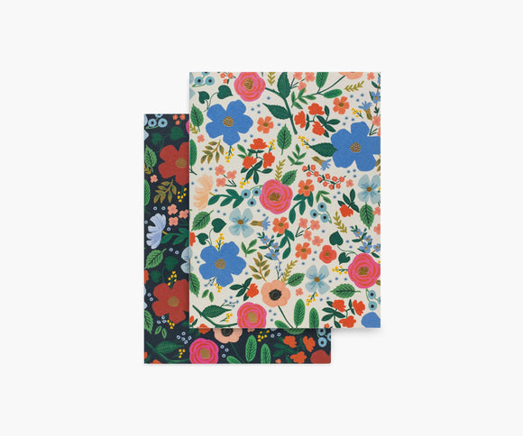 Rifle Paper Co. Pair of 2 Pocket Notebooks - Wild Rose