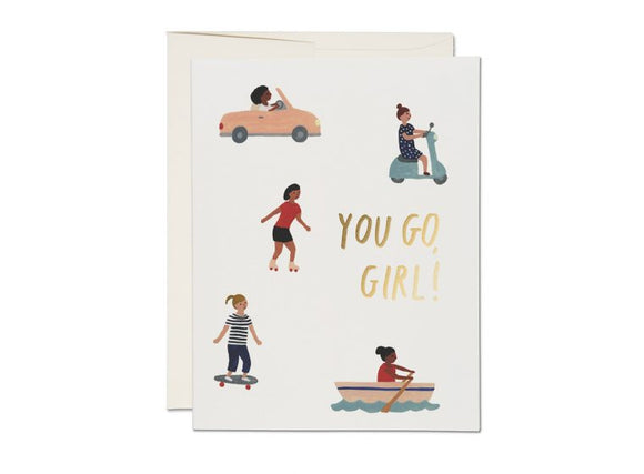 Red Cap Card - You Go, Girl Encouragement