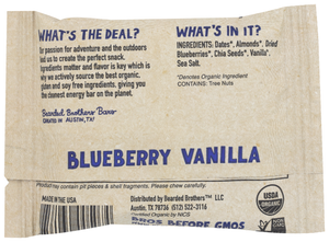 Bearded Bros Bodacious Blueberry Vanilla Energy Bar